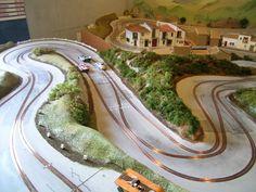 Wonderfull wooden track with very nice scenery : New Targa Florio