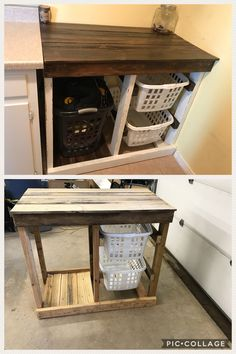 Super ideas for diy wood bathroom laundry rooms Super i. Super ideas for diy wood bathroom laundry rooms Super ideas for diy wood b Laundry Room Folding Table, Laundry Room Tables, Laundry Room Bathroom, Folding Laundry, Small Laundry Rooms, Wood Bathroom, Laundry Room Design, Laundry Folding Station, Bathroom Table