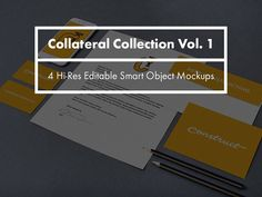 Collateral Collection Vol. 1 by Construct Supply Co. Business Brochure, Business Card Logo, Web Mockup, Mockup Templates, Click And Go, Script Type, Creative Sketches, Pencil Illustration, Paint Markers