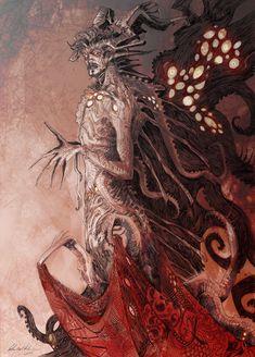 Call Of Cthulhu Rpg, Warframe Art, Eldritch Horror, Dark Artwork, Weird Art, Strange Art, Creature Concept, Weird World, Doctor Strange