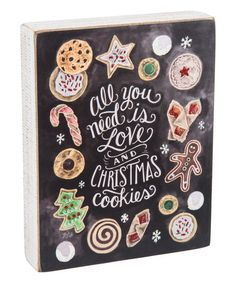 Love this 'Christmas Cookies' Chalk Sign on #zulily! #zulilyfinds
