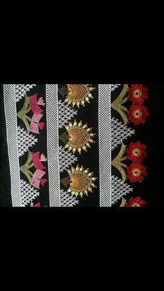 Needle lace towel edge Source by Crochet Trim, Filet Crochet, Crochet Motif, Crochet Curtains, Thread Art, Point Lace, Needle Lace, Bargello, Needlepoint