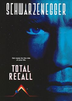 """Total Recall is a 1990 American science fiction action film directed by Paul Verhoeven, starring Arnold Schwarzenegger, Rachel Ticotin, and Sharon Stone. The film is loosely based on the Philip K. Dick story """"We Can Remember It for You Wholesale"""". Film D'action, Bon Film, Film Movie, Movie Props, Arnold Schwarzenegger, Film Science Fiction, K Dick, Image Film, Total Recall"""