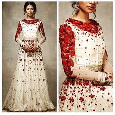 A French Floral Story by Varun Bahl for SS 2015 My goodness this is gorgeous! Pakistani Dresses, Indian Dresses, Indian Outfits, Indian Clothes, Indian Attire, Indian Bridal Fashion, Indian Bridal Wear, Indian Wear, Ethnic Fashion