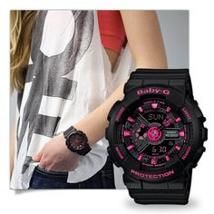 Baby-G Tough and water resistant ladies analog and digital watches. G Watch, Casio Watch, Baby G Shock, Casio G Shock Watches, Cool Style, My Style, Sporty Style, Fashion Watches, Stylish
