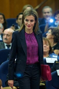 22 October 2014 - Queen Letizia attends the 25th Anniversary Ceremony of the National Transplant Organization in Madrid