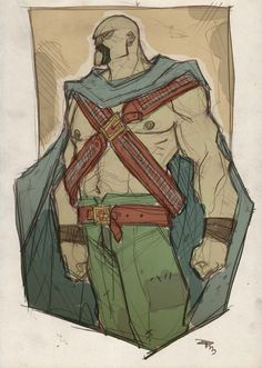 Wild West Martian Manhunter by Denis Medri - Western Justice League Redesign