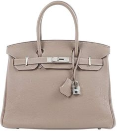 Buy your birkin 30 leather handbag HERMÈS on Vestiaire Collective, the luxury consignment store online. Second-hand Birkin 30 leather handbag HERMÈS Other in Leather available. Hermes Handbags, Designer Handbags, Leather Handbags, Lilac Grey, Beige, Hermes Online, Hermes Birkin, Luxury Consignment, Leather Craft