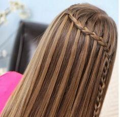 Fransız şelale örgüsü saç modelleri #kendinyap