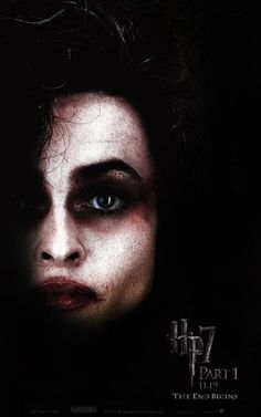 This is Bellatrix from Harry Potter.  Though she is a woman, I would have Jim Carrey's makeup done like this. However, Jim's eyebows will be made into a fashion as if they have never been waxed or plucked. This pale complexion will go great for what I'm imagining the Mad Hatter to look like.