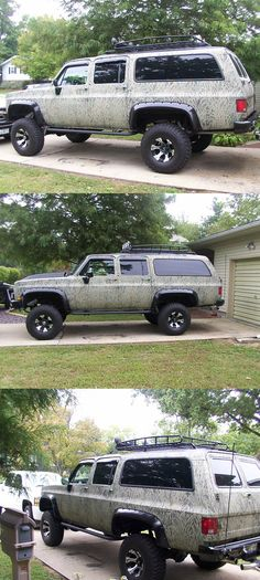 The ULTIMATE duck hunting machine! This chevy suburban was made for adventuring in the out doors and features so many ideas for outfitting the perfect hunting vehicle. Awesome accessories like the roof basket, off-road lighting and tube steps!  Follow the link to outfit your vehicle!