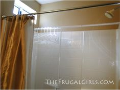 "well, duh - why didn't I think of this?  hang an extra shower rod inside the tub stall when you need to ""line-dry"" items (lingerie, small rugs,etc.) without their dripping in the laundry room.  pull the curtain and it's hidden from sight!"