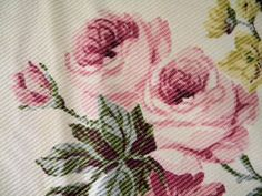 Sweet Shabby Vintage Barkcloth Era Fabric Curtain by RuinsCa, $125.00