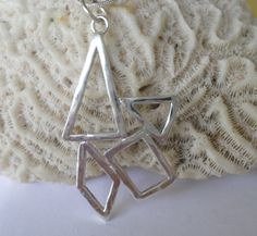 Sterling Silver Geometric  Pendant 100 by MaroonedJewelry on Etsy, $35.00