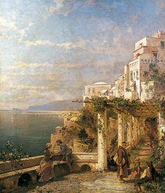 Amalfi, Golfe de Salerne c.1880 by Franz Richard Unterberger (Austrian 1838–1902)