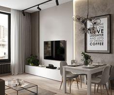 home interior design catalogues Living Room Styles, Living Room Tv, Living Room Modern, Living Room Interior, Home And Living, Living Room Designs, Zeitgenössisches Apartment, Small Apartment Living, Apartment Interior