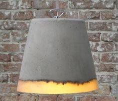 concrete lamp by renate vos.