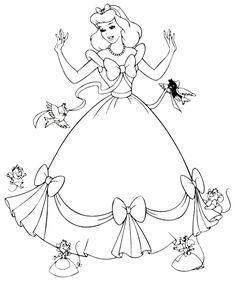 Prenses Boyama Sayfası, Princess Coloring Pages, Princesas para colorear, Принцесса Раскраски.
