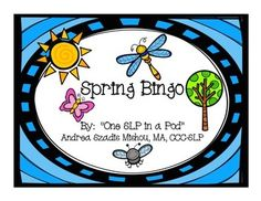 I love Bingo games, so here's a new one just for Spring!  There are 4 Bingo boards and 24 calling cards attached in this freebie.  This is perfect for working on Springtime vocabulary.  Pictures include a duckling, flowers, a tree, a kite, a bear, and many more.