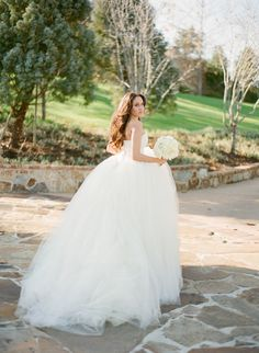 Romantic + princess-worthy tulle ballgown: http://www.stylemepretty.com/2016/02/17/romantic-wedding-dresses/
