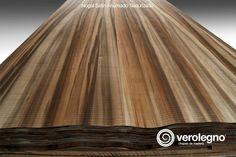 Chapa de Madera Natural Nogal Satín Ahumado Texturizado de VEROLEGNO