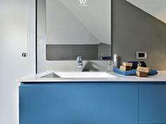 regale fliesen waschbecken badezimmer mosaik blau | wohnen ... - Badezimmer Blau Grau