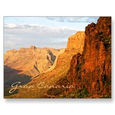 Gran Canaria Mountains Postcard