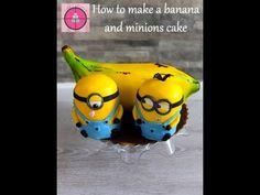 How to make a banana and minions cake tutorial / Jak zrobić tort z bananem i minionkami - YouTube