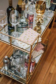 Three Bar Cart Styles with Joss & Main by Lauren Mazzei of Auburn Robes
