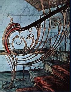 Ideas Stairs Architecture Design Art Nouveau For 2019 Architecture Design, Architecture Art Nouveau, Art Nouveau Interior, Design Art Nouveau, Art Nouveau Furniture, Stairs Architecture, Escalier Art, Gaudi, Jugendstil Design