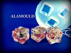Resin. Liquid Diamonds by Alamould Moulds. Cast flowers in to a bangle mold. - YouTube