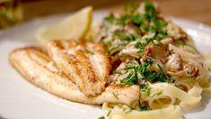 Schartong met boschampignons, kruidenkaas en pasta | Dagelijkse kost
