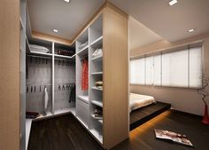 42 Trendy Master Bedroom Closet Behind Bed Decorating Ideas