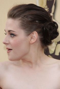 Kristen Stewart wearing a elegant updo hairstyle at the the 82nd Annual Academy Awards