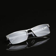 92a9287dfc11 Mens Rectangular Business Metal Reading Glasses Readers 1.0 1.5 2.0 2.5 3.0  3.5