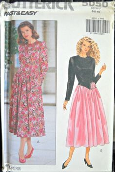 Butterick 5050 Women's Dress Pattern Sizes 6 by CurlicueCreations, $5.45
