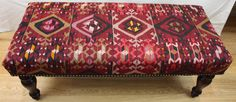 Buy Beautiful Hand Woven Antique Turkish Kilim Bench by Rugstore