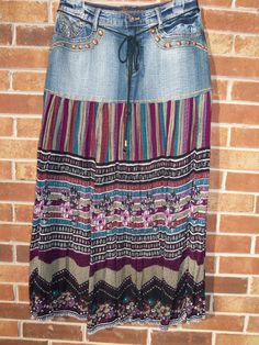 Handmade from upcycled jeans! Seriously considering expanding my wardrobe to include a few long skirts.