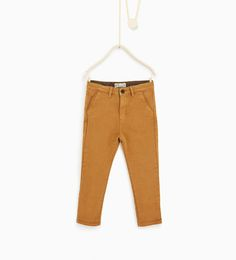 Image 2 of Ottoman rib chino trousers from Zara
