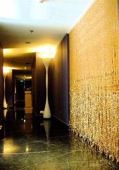 Beaded Curtain Champagne Gold Acrylic Crystal Beaded Curtain