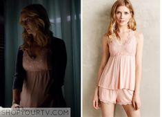 The Vampire Diaries: Season 6 Episode 10 Caroline's Lace Overlay Camisole