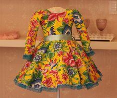 Vestido de Festa Junina Floral-Infantil no Elo7   Liminha Doce - Moda Infantil e Mãe e Filha (6F9B4B)