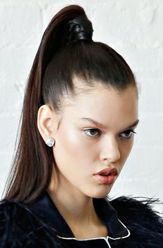 ultra high ponytail - Google Search