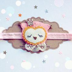 Princesse des bois chouette bandeau cheveux par LittleMagicPieces