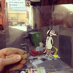 Artist Inserts Playful Drawings On Transparent Film Into Everyday Photographs - DesignTAXI.com