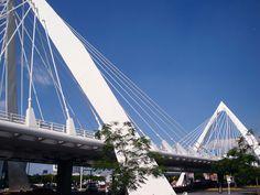 Puente Matute Remus, una imponente obra arquitectónica de la Zona Metropolitana de Guadalajara que se caracteriza por ser un puente atirantado, único de su tipo en la ciudad.