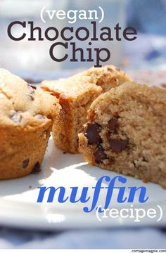 These are next on the muffin-making list for the kids: Whole Wheat Vegan Chocolate Chip Muffins // Cottage Magpie
