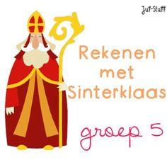 Juf-Stuff: Rekenen met Sinterklaas - groep 5 Catholic Crafts, High Five, Math Classroom, Maths, Mathematics, Children, Kids, Disney Characters, Fictional Characters