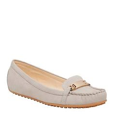 HIGHLIGHT - Easy to slip on and comfortable to wear our 'Highlight' loafers are soft and lush in textured nubuck and finished with gold hardware detailing. Gold Hardware, Salvatore Ferragamo, Nine West, Highlight, Lush, Dress Up, Loafers, Slip On, Flats