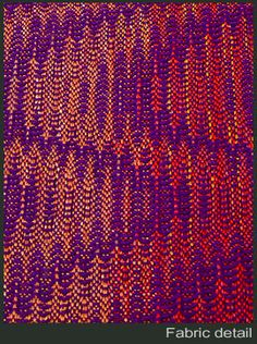 fabric detail. Many drafts